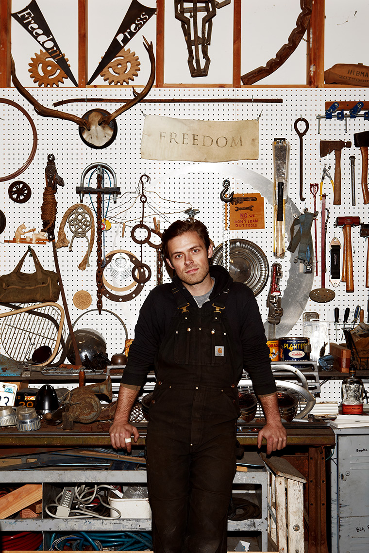 Portrait of Shawn HibmaCronan in his workshop